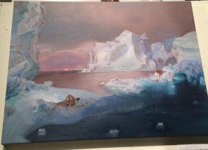 Alyx Michele, Icebergs (after Frederic Church, 1861), 2015, Oil on Canvas
