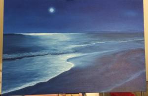 Alyx Michele, Goodnight Moon, 2015, oil on canvas
